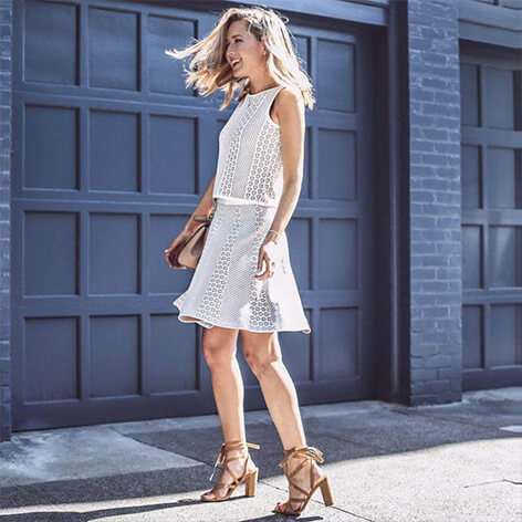 How To Wear The Ivanka Trump Hettie Sandals With Dresses And Skirts